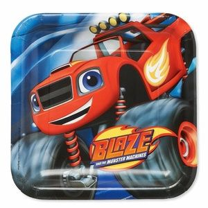 Blaze Monster Machines 7 in.Party Cake Plates